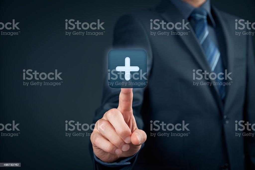 Benefit plus positive stock photo