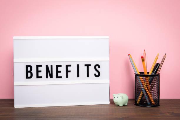 Vorteile. Karriere, Versicherung, Geldpreis und Chancen – Foto