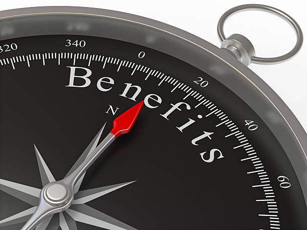 Benefits Compass stock photo