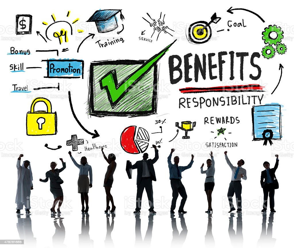 Benefits Gain Profit Earning Income Business Success Concept stock photo
