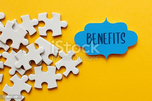istock Benefits, Jigsaw puzzle concept 1288424911