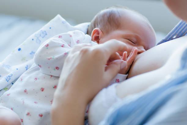 benefits of breastfeeding for newborns - amamentação imagens e fotografias de stock