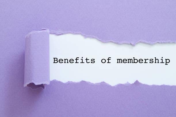 Benefits of membership stock photo
