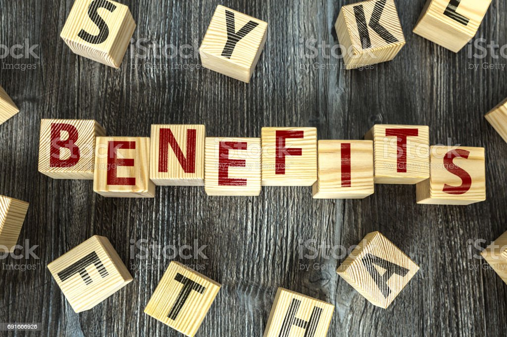 Benefits stock photo
