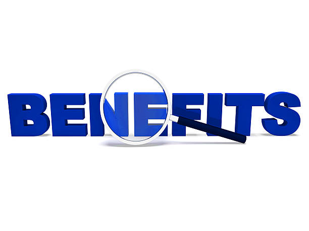 Benefits Word Means Perks Bonuses Or Reward stock photo