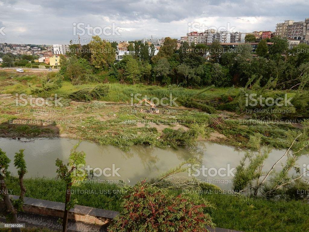 Benevento - Alveo disboscato stock photo