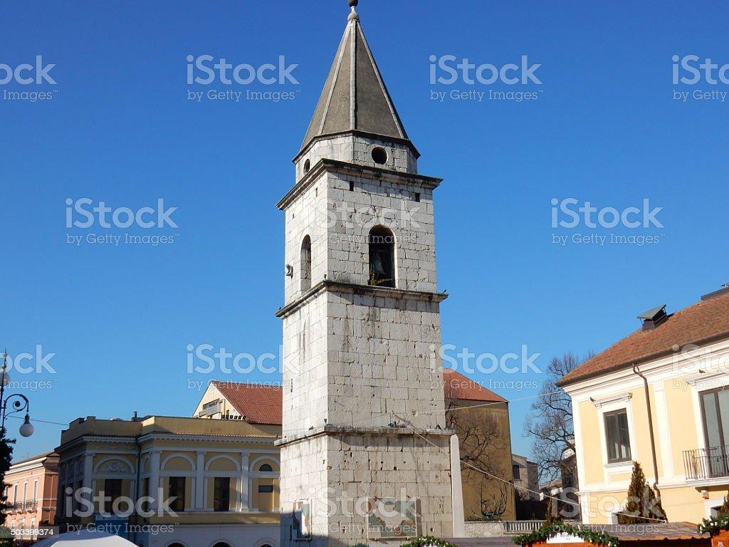 Benevento-il Campanile della Chiesa di Santa Sofia - foto stock