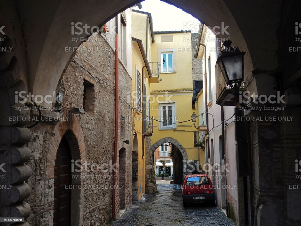 Benevento - Pontili nel centro storico foto royalty-free