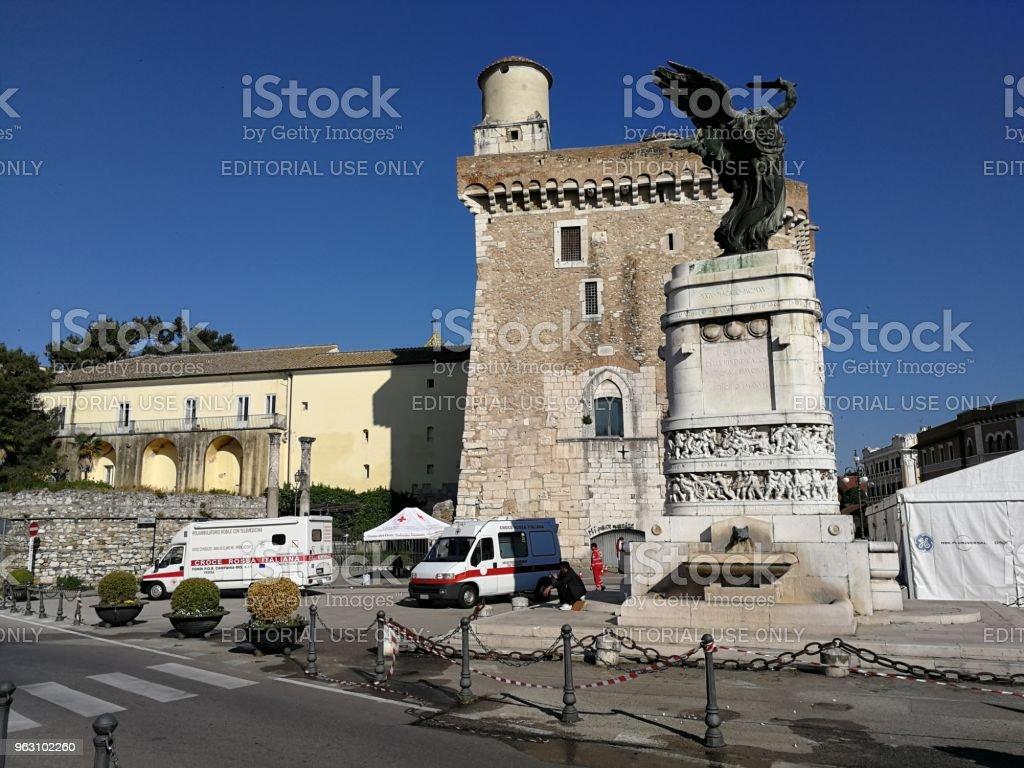 Benevento - Red Cross Presidium - foto stock