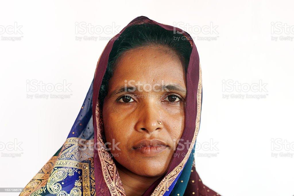 Bengali Woman in Sari stock photo