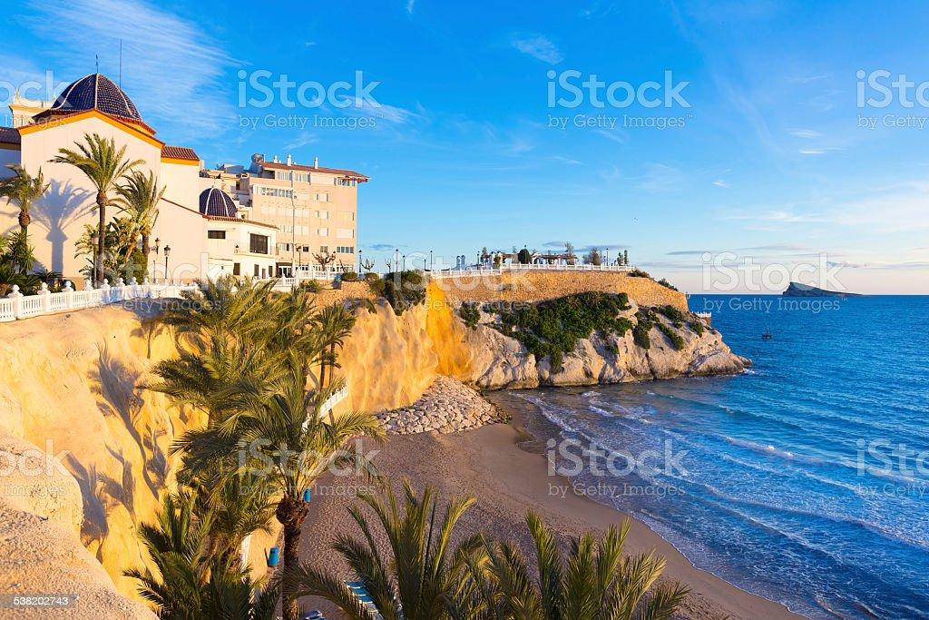 Benidorm Alicante playa del Mal Pas Strand bei Sonnenuntergang – Foto