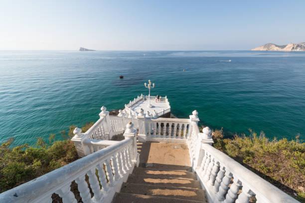 Benidorm balcony of the Mediterranean stock photo