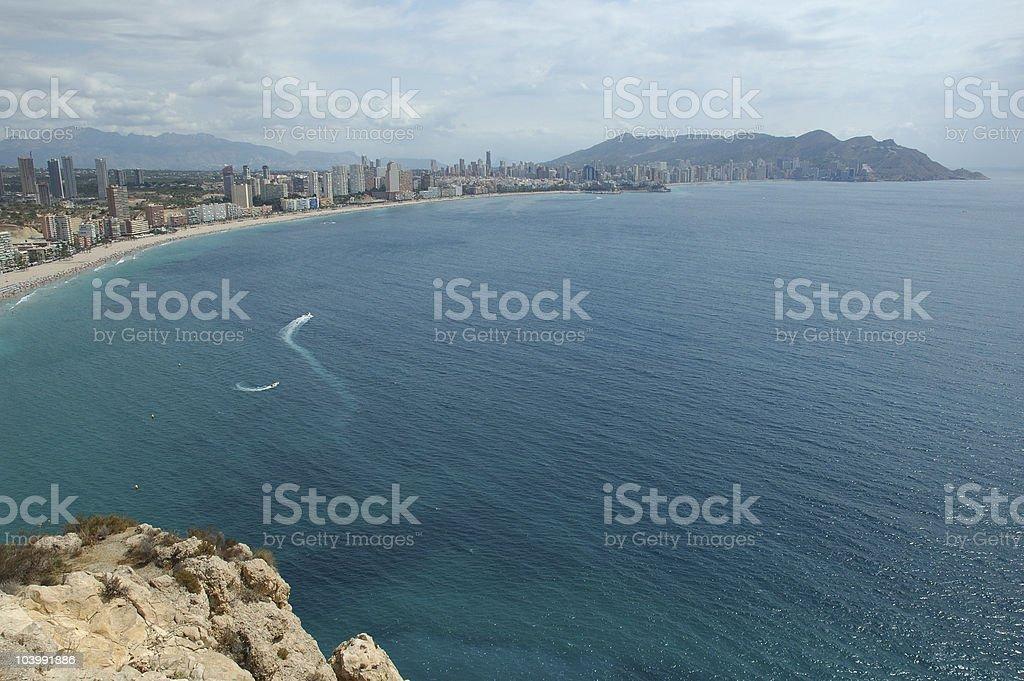 Benidorm Beach royalty-free stock photo