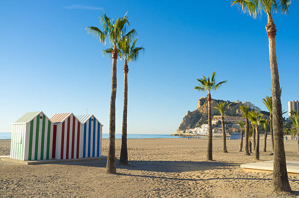 Benidorm beach stock photo