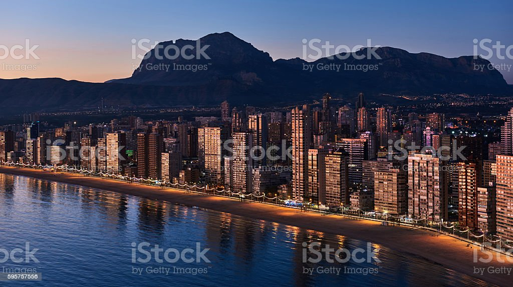 Benidorm city stock photo
