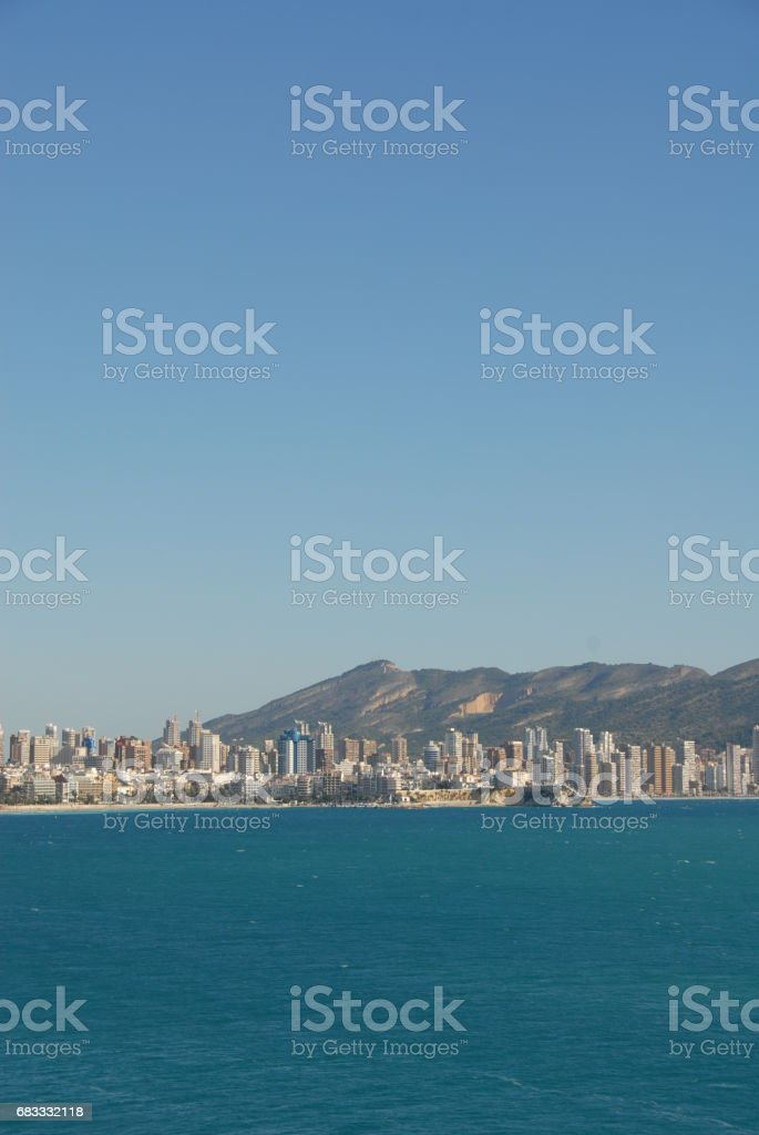 Benidorm - Stadtansichten/Skyline - Costa Blanca - Spanien royalty-free stock photo