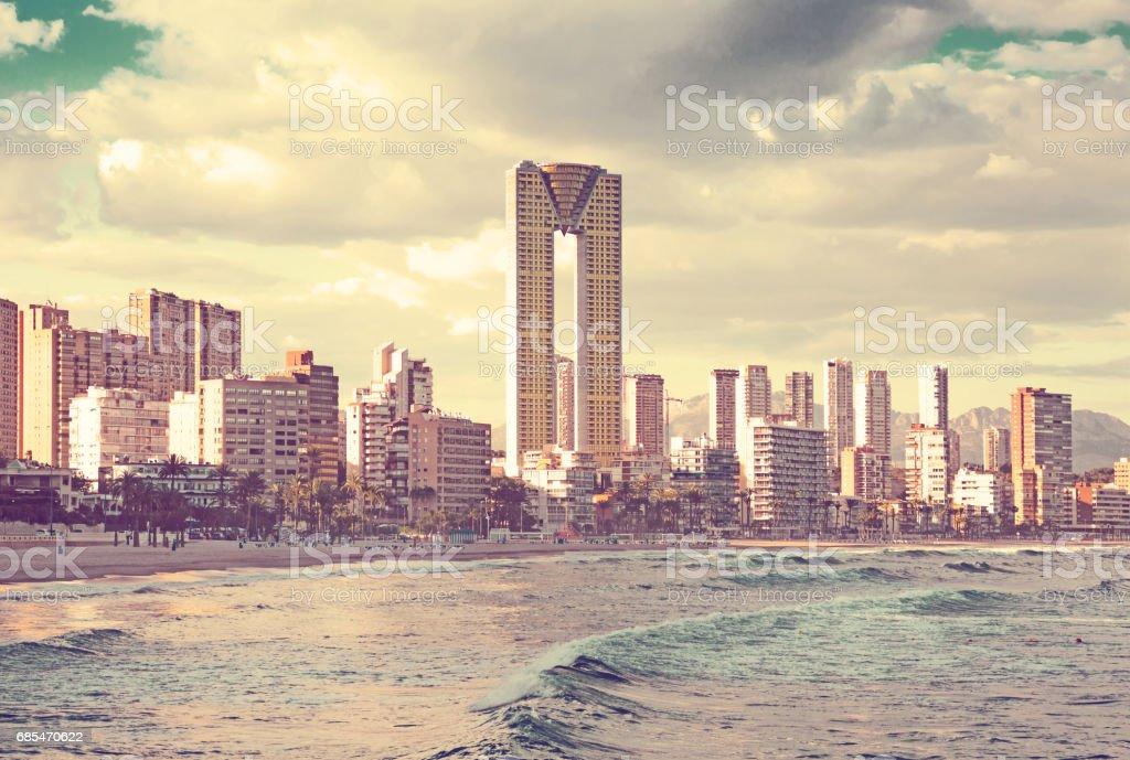 benidorm panoramic view foto de stock royalty-free