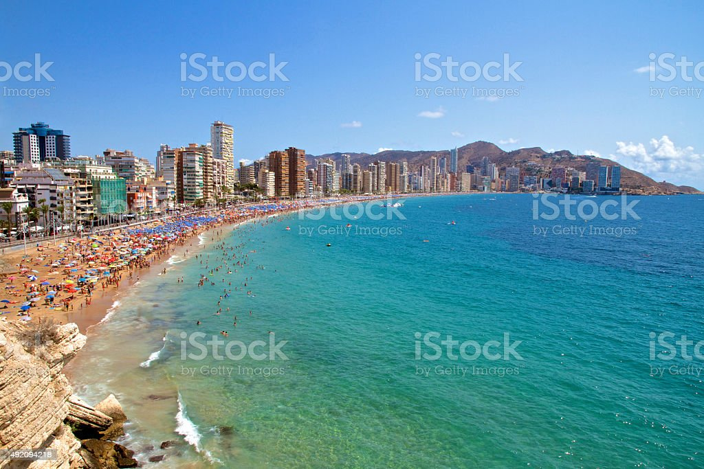 Benidorm, Spain Levante Beach stock photo