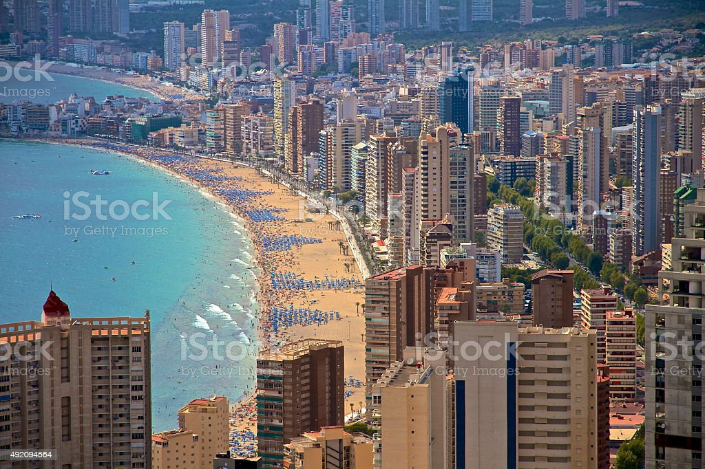 Benidorm, Spain Skyscrapers stock photo