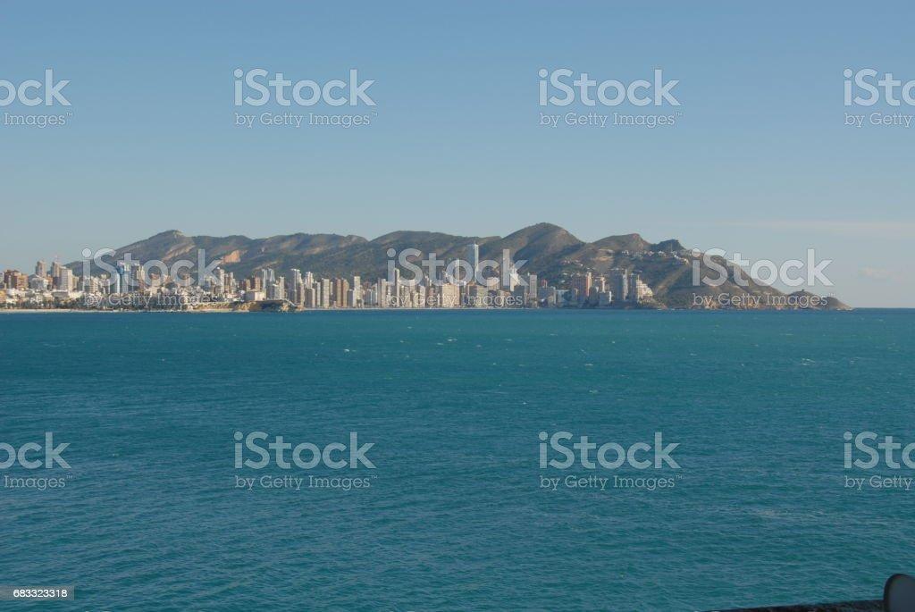 Benidorm - Stadtansichten/Skyline - Costa Blanca - Spanien photo libre de droits