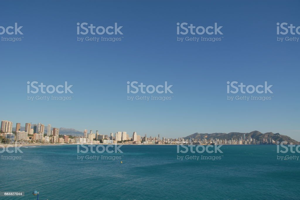 Benidorm - Stadtansichten/Skyline - Costa Blanca - Spanien foto stock royalty-free