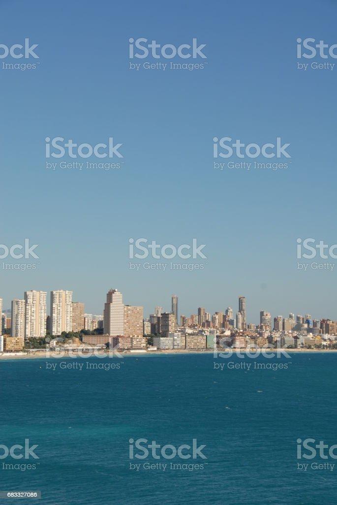 Benidorm - Stadtansichten/Skyline - Costa Blanca - Spanien ロイヤリティフリーストックフォト