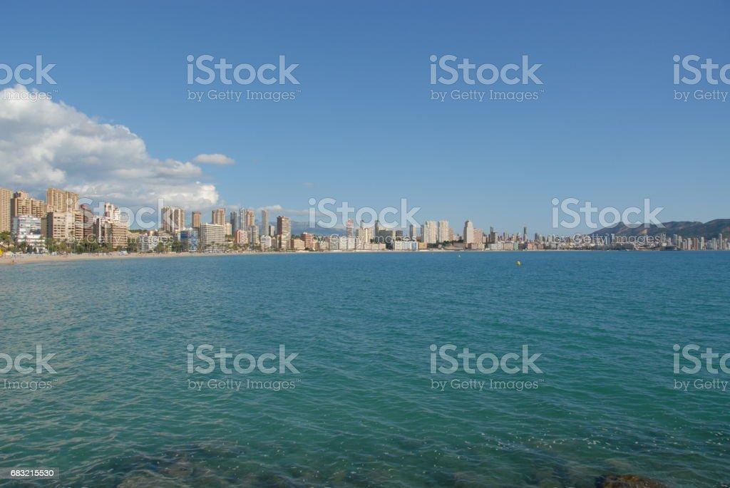 Benidorm - Stadtansichten/Skyline - Hausfassaden - Costa Blanca - Spanien royalty-free 스톡 사진