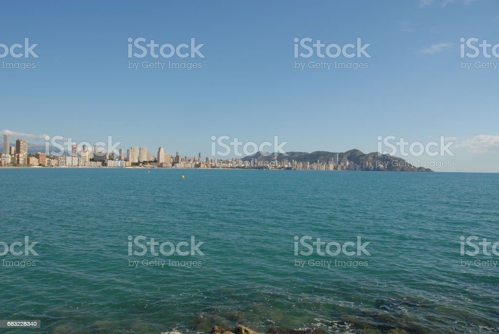 Benidorm - Stadtansichten/Skyline - Hausfassaden - Costa Blanca - Spanien 免版稅 stock photo