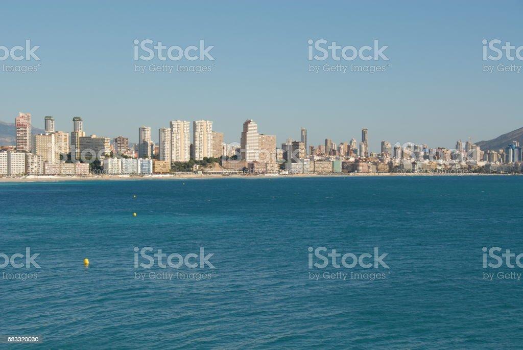 Benidorm - Stadtansichten/Skyline - Hausfassaden - Costa Blanca - Spanien photo libre de droits