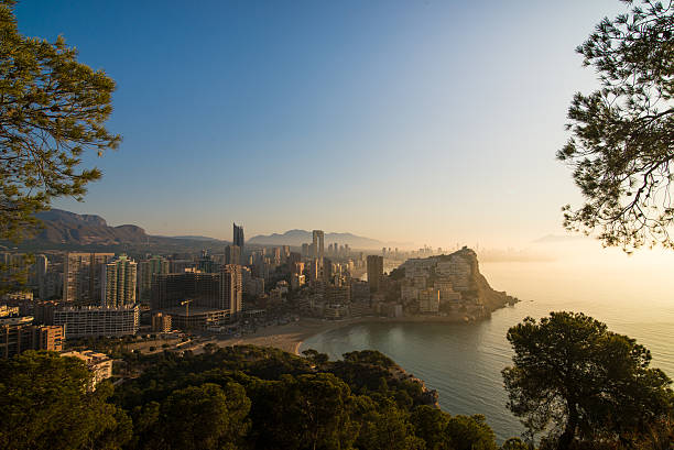 Benidorm sunrise stock photo