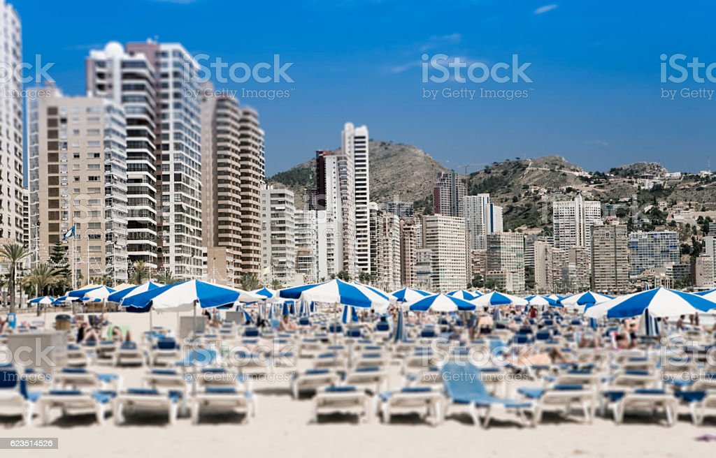 Benidorm Valencia Spain stock photo