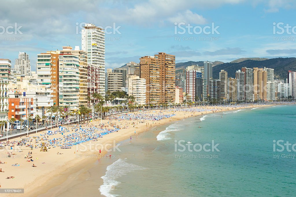 Benidorm-Spain stock photo