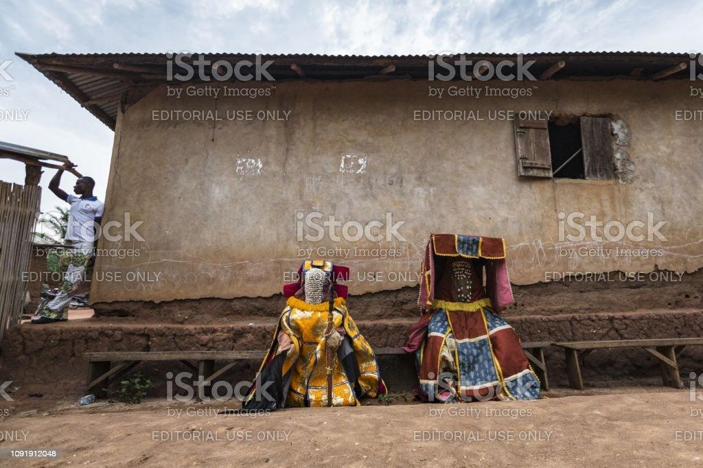 Foto de Benin África Ocidental Os Espíritos Egoun Egoun