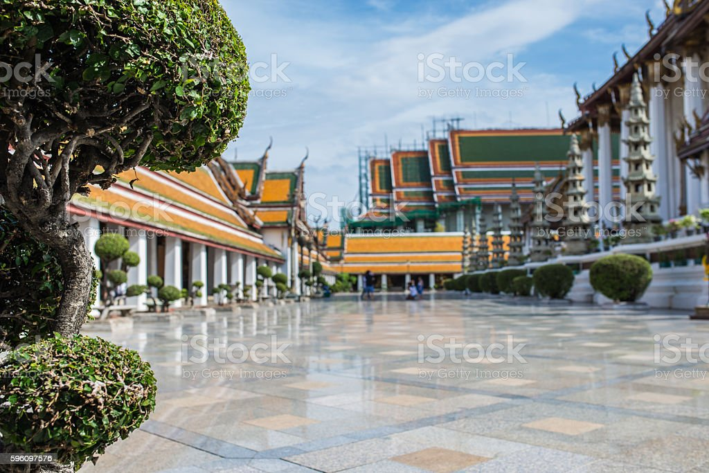 Benjamabopit temple royalty-free stock photo
