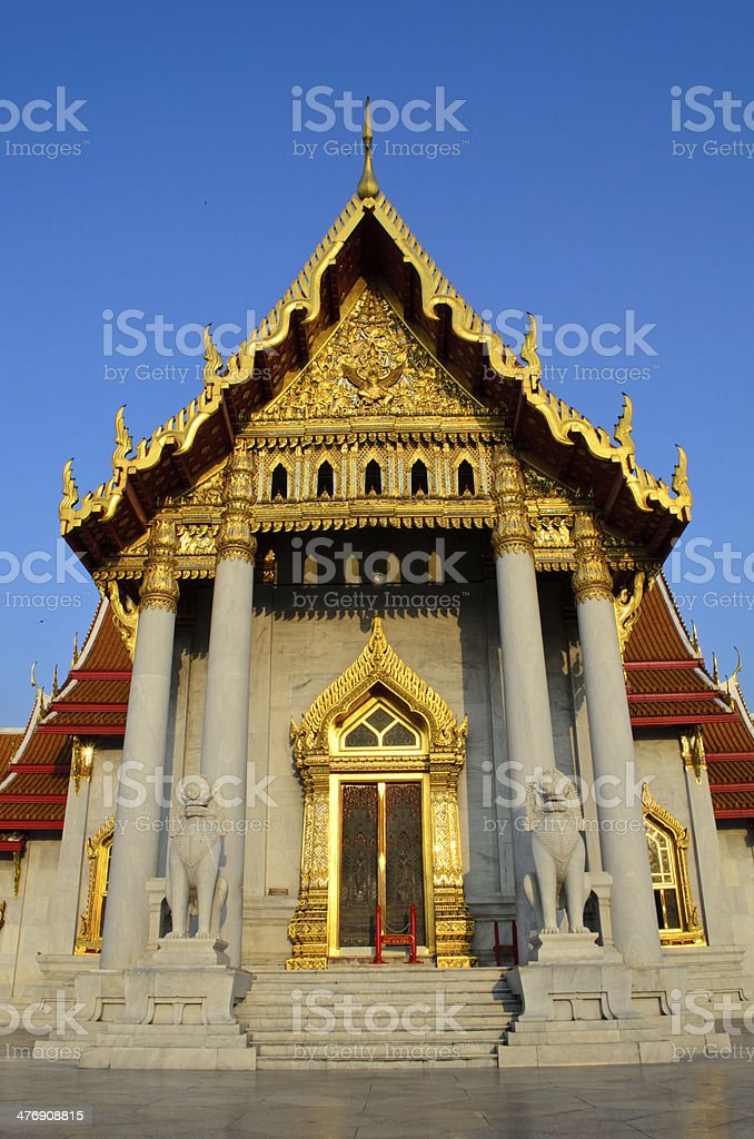 Benjamaborpit Temple, Bangkok royalty-free stock photo