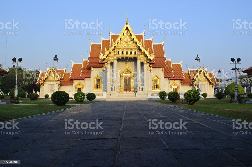 Benjamaborpit Temple, Bangkok royalty-free stock photo