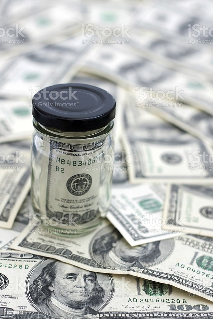 Benjamin Frankin in a Jar stock photo