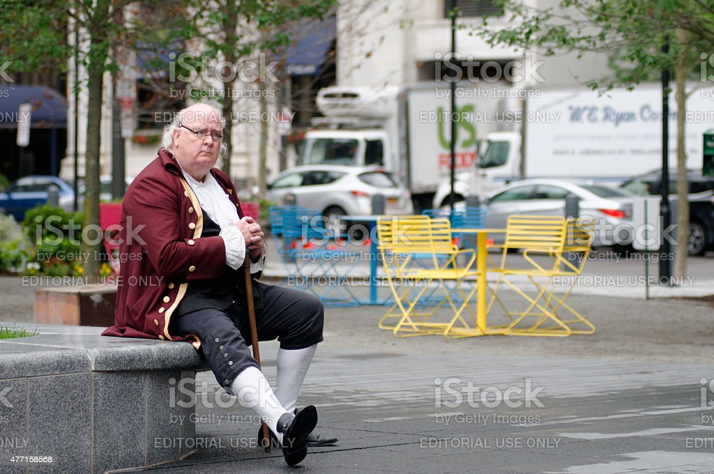Benjamin Franklin at Dilworth Plaza stock photo