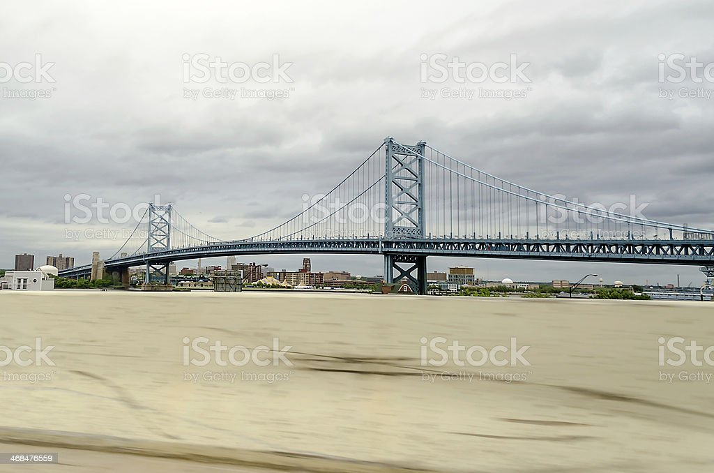 Benjamin Franklin Bridge, Philadelphia royalty-free stock photo