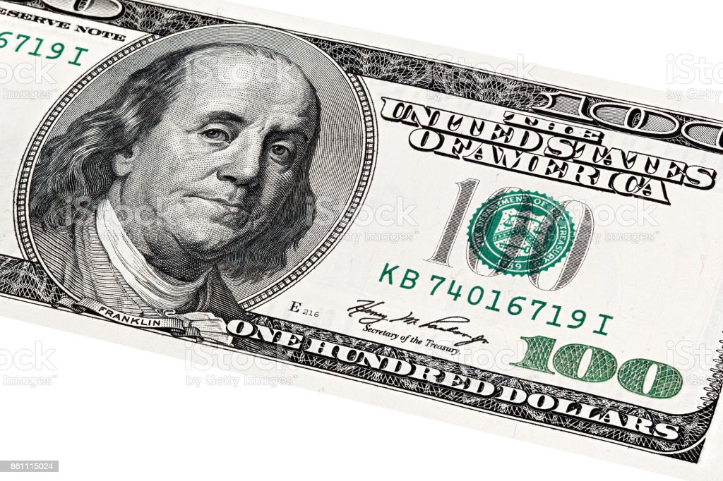 Benjamin Franklin end United States Department of the Treasury p stock photo