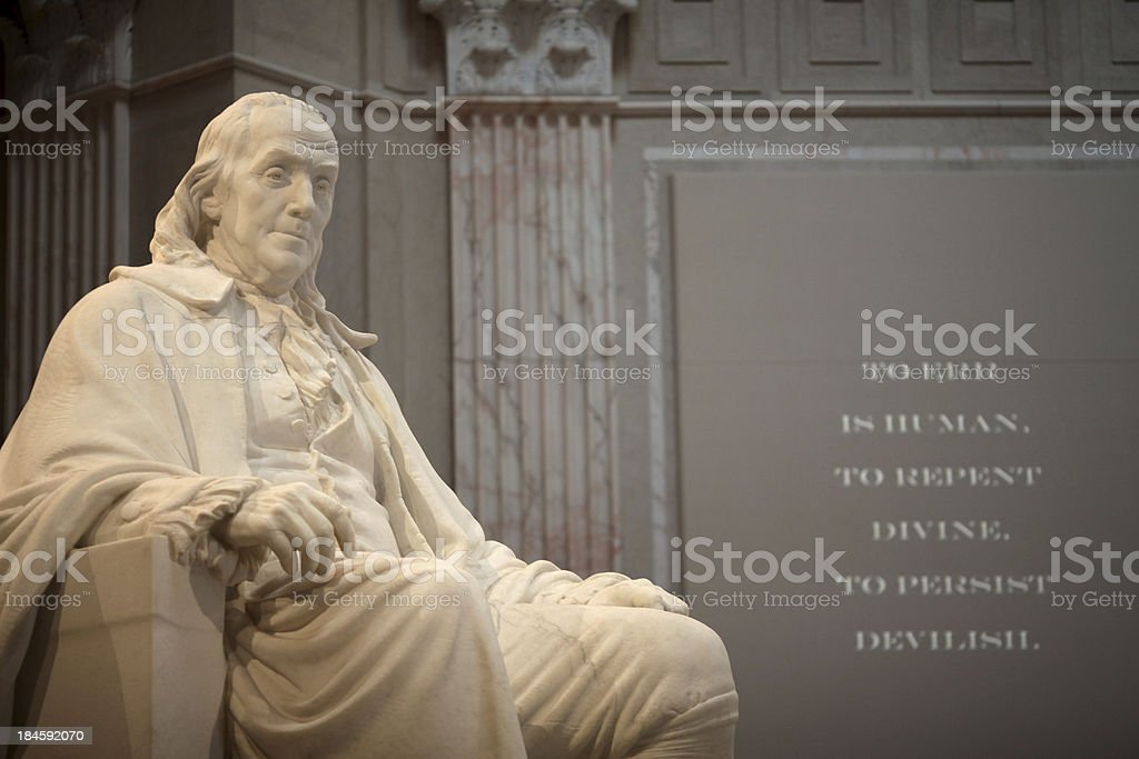 Benjamin Franklin Memorial stock photo