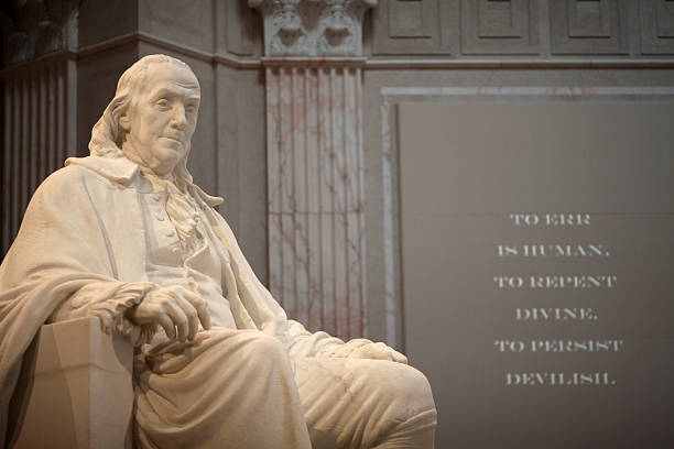 "Benjamin Franklin Memorial ""Franklin Institute, Philadelphia, Pennsylvania"" benjamin franklin stock pictures, royalty-free photos & images"