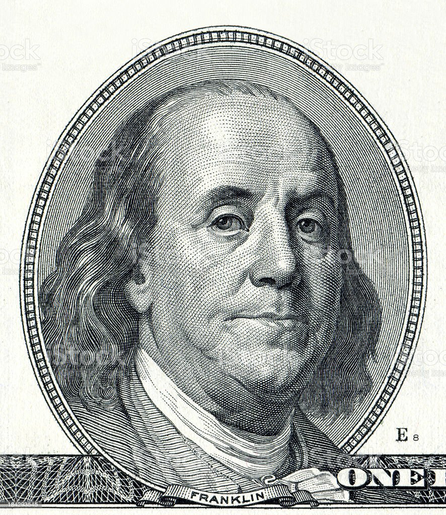 Benjamin Franklin (XXXL) stock photo