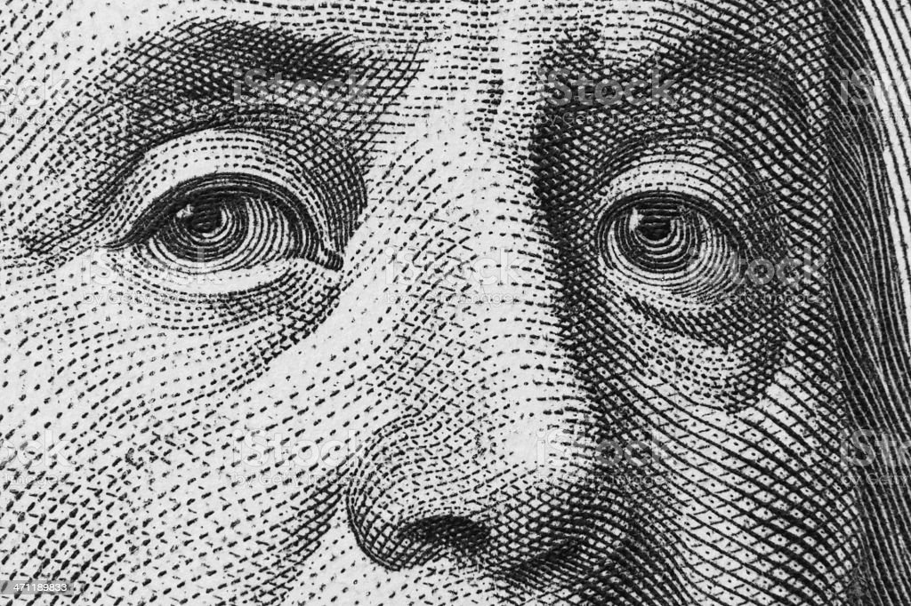 Benjamin Franklin ( 21 Mpx) stock photo