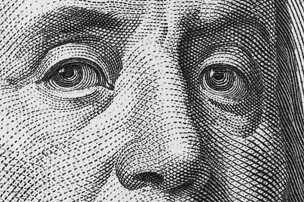 Benjamin Franklin ( 21 Mpx) stock photo