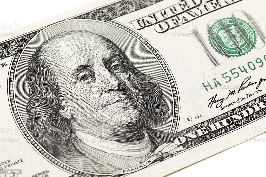 Benjamin Franklin portrait royalty-free stock photo