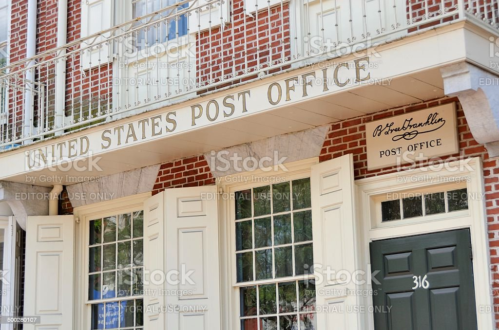 Philadelphia Old Town Post Office Benjamin Franklin Pictures, Images And  Stock Photos
