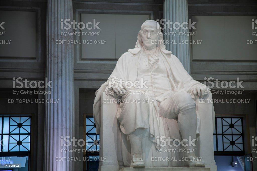 Benjamin Franklin Statue royalty-free stock photo