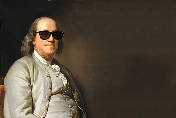 Benjamin Franklin with sun glasses Benjamin Franklin with sun glasses millionnaire stock pictures, royalty-free photos & images
