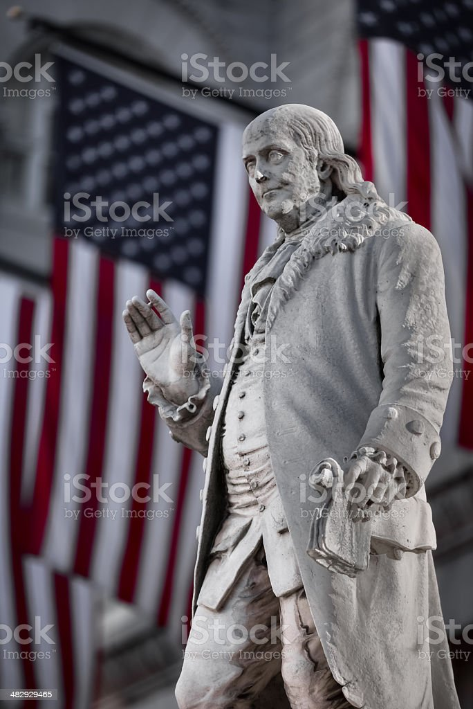 Benjaming Franklin stock photo